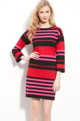 Calvin Klein Stripe Sweater Dress - Lyst