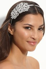Cara Accessories Beautiful Memories Crystal Ornament Headband in White (crystal) - Lyst
