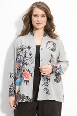 Citron Print Silk Jacket - Lyst