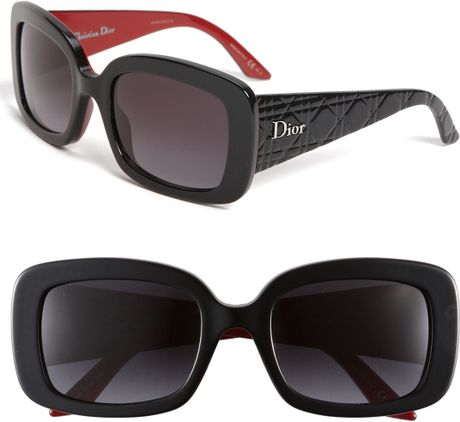Dior Retro Inspired Square Sunglasses in Black - Lyst