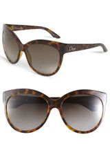 Dior Rounded Cats Eye Sunglasses - Lyst