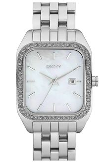 DKNY Small Rectangular Bracelet Watch - Lyst