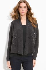 Eileen Fisher Sequin Trim Cardigan - Lyst