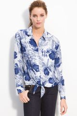 Equipment Daddy Tie Front Shirt - Lyst