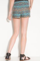Free People Print Shorts - Lyst