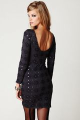 Free People Long Sleeve Embellished Party Dress in Blue (shark combo) - Lyst