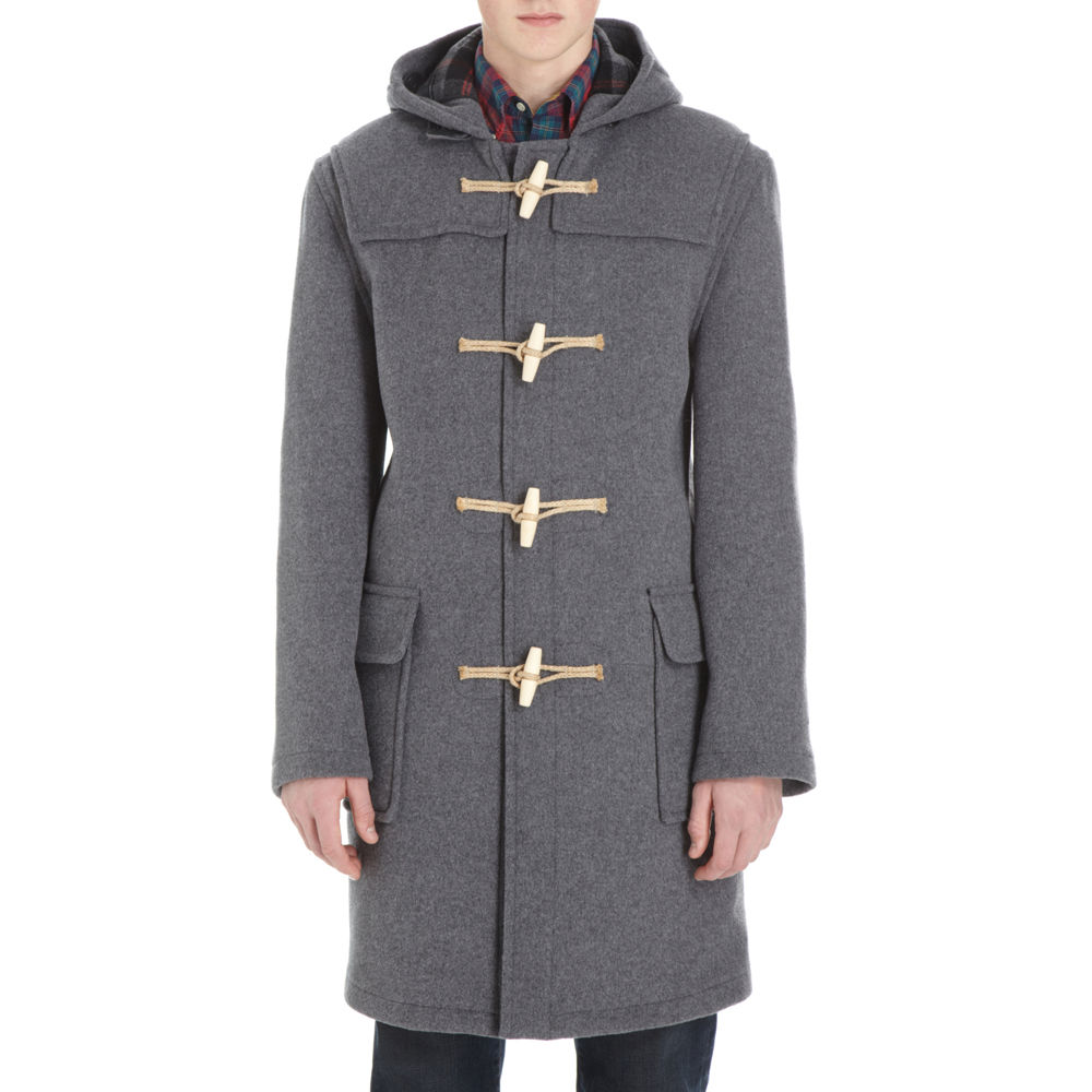 Gloverall Classic Duffle Coat in Gray for Men (grey) | Lyst
