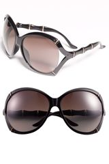 Gucci Oversized Sunglasses in Black (shiny black) - Lyst