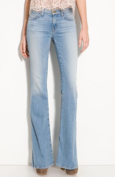 J Brand Jeans 70u0026#39;s Style Bell Bottoms in Icicle Wash Super Flare Size 27 | eBay