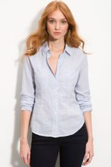 James Perse Fitted Stripe Shirt - Lyst