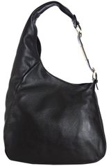 Jimmy Choo Black Calfskin Thelma Hobo in Black - Lyst