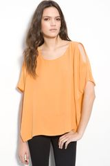 Joie Hiori Split Sleeve Oversize Silk Top - Lyst