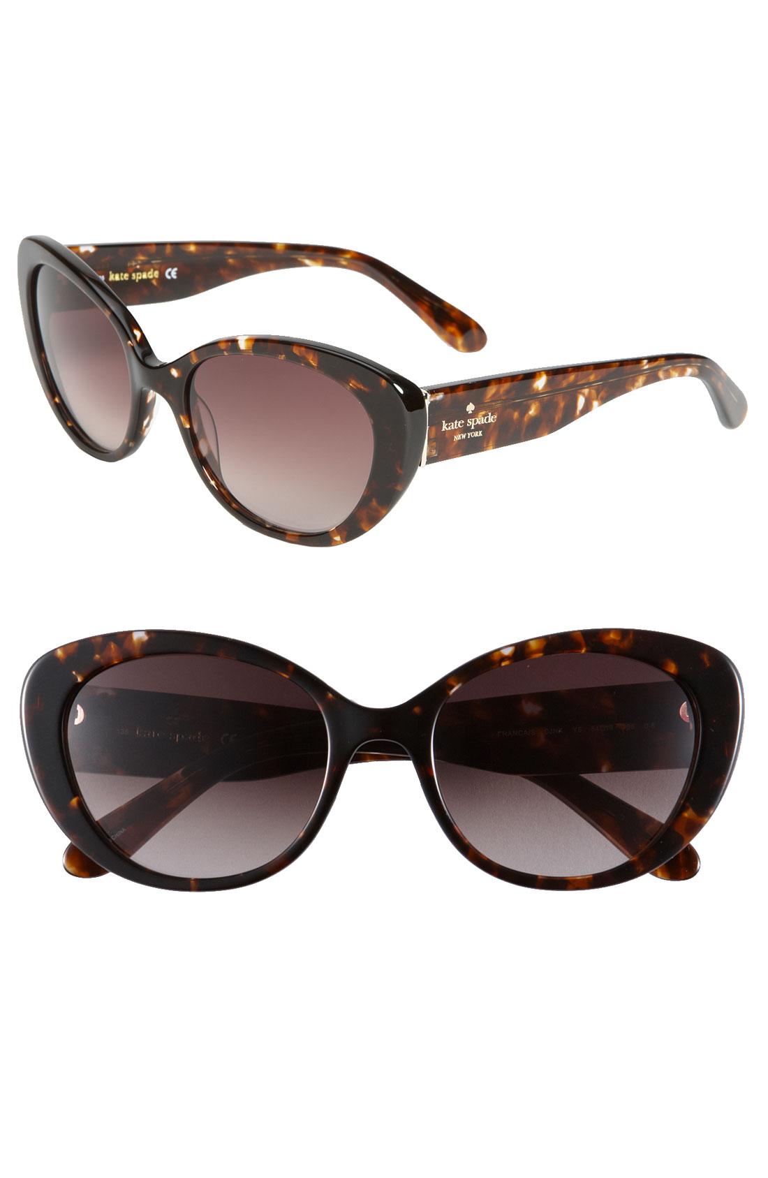 Kate Spade Franca Cats Eye Sunglasses in Brown (dark ...