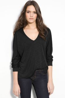 Lanston Oversize Cutout Back V-neck Top - Lyst