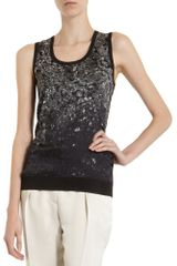 Lanvin Diamond Front Sleeveless Sweater - Lyst