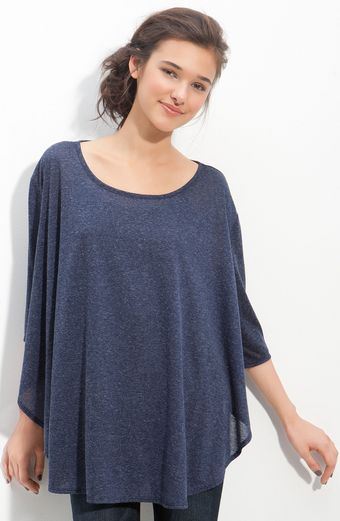 Lily White Oversized Tee with Chiffon Back - Lyst