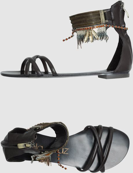 Lola Cruz Sandals in Brown - Lyst