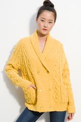 Marc By Marc Jacobs Beth Oversize Cable Cardigan - Lyst