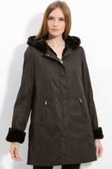 Marc New York Hooded Coat with Faux Fur Lining - Lyst