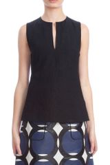 Marni Slit Neck Blouse - Lyst