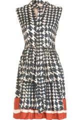 Marni Tie Neck Houndstooth Dress - Lyst