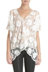 Mason by Michelle Mason Lace Top - Lyst
