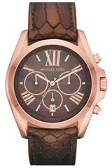 Michael by Michael Kors Michael Kors Bradshaw Chronograph Leather Strap Watch - Lyst