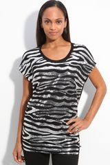 Michael by Michael Kors Sequin Zebra Pattern Top - Lyst