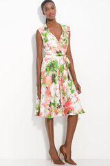 Milly Brynn Printed Silk Dress - Lyst