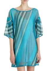 Missoni Tonal Stripe Tunic Dress - Lyst