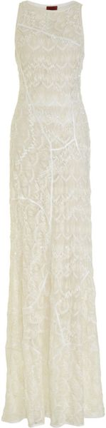 Missoni Sequin Gown in White - Lyst