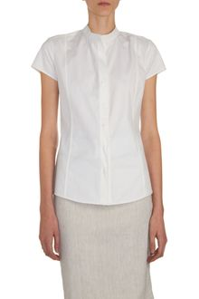 Narciso Rodriguez Band Collar Blouse - Lyst
