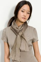 Nordstrom Pleated Metallic Scarf - Lyst
