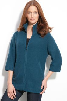Nordstrom Collection Zip Cashmere Cardigan - Lyst
