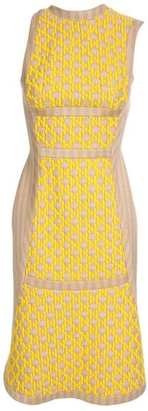 Pedro Lourenco Wool Embroidered Pencil Dress - Lyst