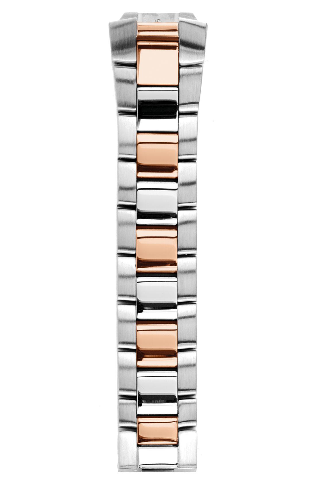 Stein Rose: Philip Stein 18mm 2-tone Rose Gold Watch Bracelet In Pink