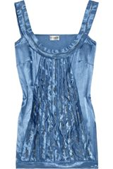Philosophy di Alberta Ferretti Beaded Satin Top - Lyst
