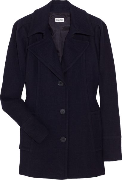 Philosophy Di Alberta Ferretti Wool and Linenblend Coat in Blue - Lyst