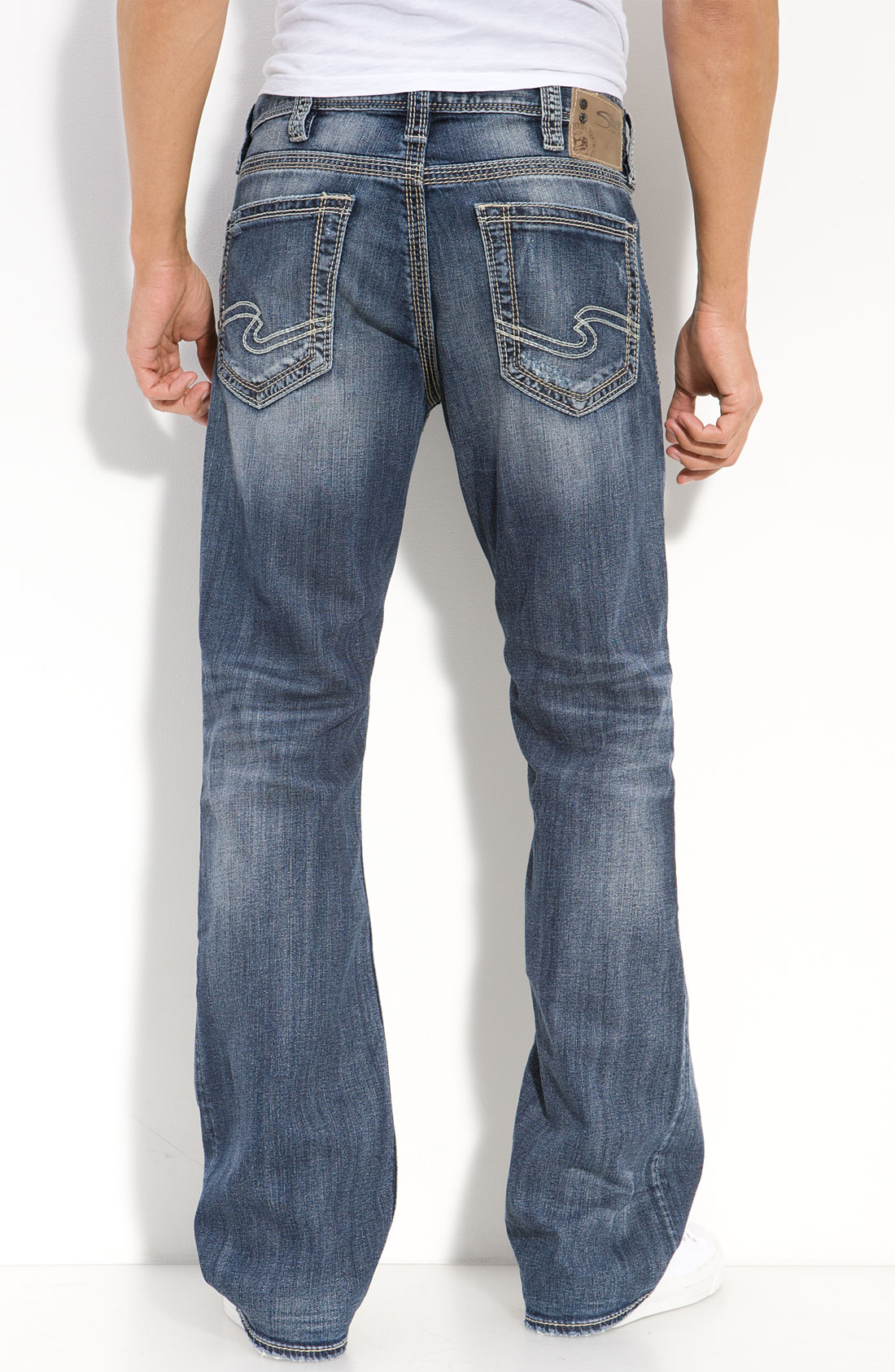 Silver jeans co. Grayson Relaxed Bootcut Jeans in Blue for Men | Lyst