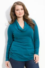 Splendid Cowl Neck Knit Top - Lyst