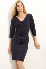 Suzi Chin For Maggy Boutique Cowl Neck Jersey Dress - Lyst