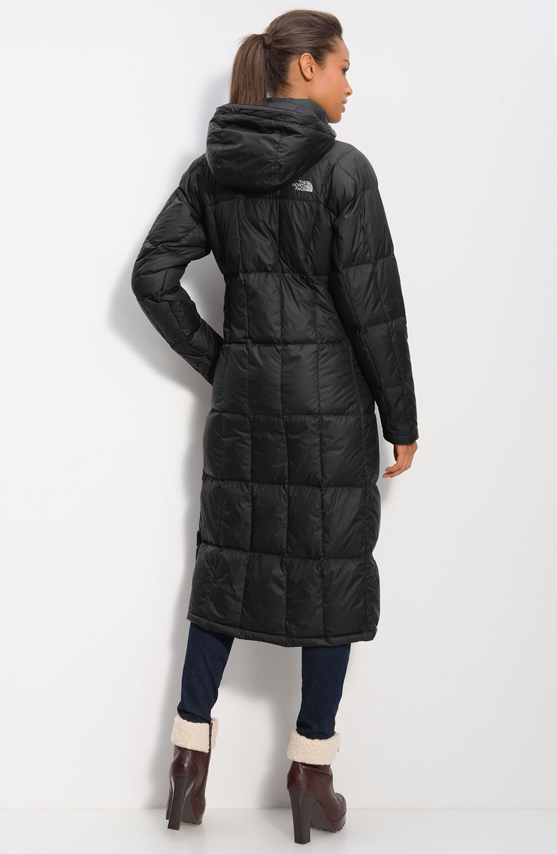 North face womens long down coat
