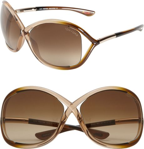 tom ford whitney open side sunglasses in pink rose brown lyst. Cars Review. Best American Auto & Cars Review