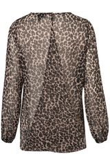 Topshop Animal Drape Front Blouse in Brown (animal print) - Lyst