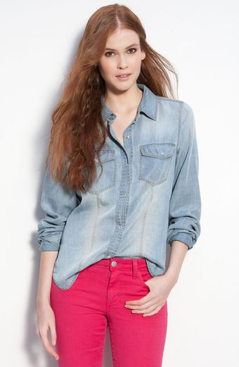 Trouvé Faded Denim Shirt - Lyst