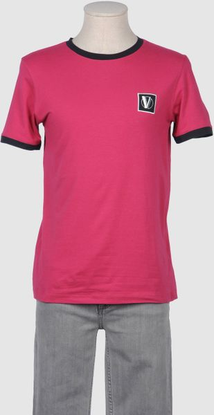 Versace Collection Short Sleeve T Shirts in Pink for Men - Lyst