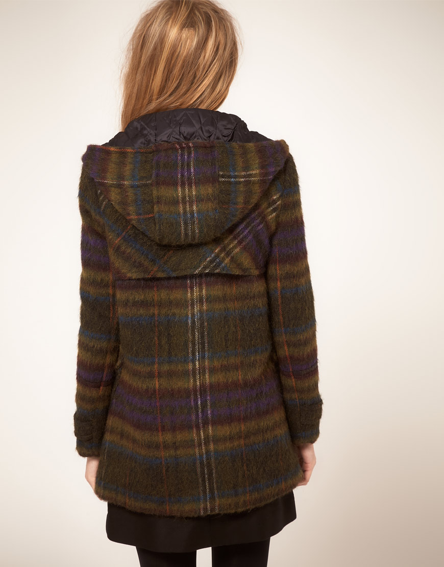 Whistles 70s Check Duffle Coat | Lyst