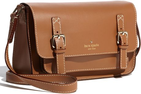 Kate Spade Dixon Place Scout Crossbody Bag in Brown (natural) - Lyst