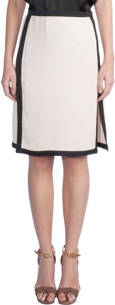 Lanvin Tipped Pencil Skirt in Beige (bone) - Lyst