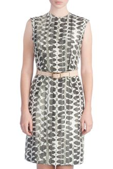 Lanvin Python Print Sheath Dress - Lyst